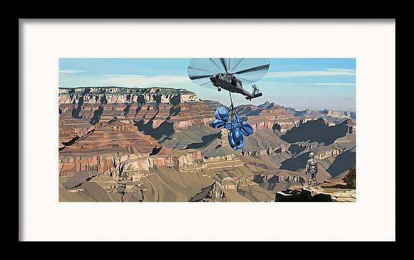 Astronaut Framed Print featuring the painting Grand Canyon by Scott Listfield