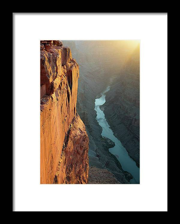 Scenics Framed Print featuring the photograph Grand Canyon Toroweap Point Morning by Kjschoen