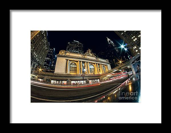 Grand Central Station Framed Print featuring the photograph Grand Central Station And Chrysler Building by Daniel Portalatin Photography