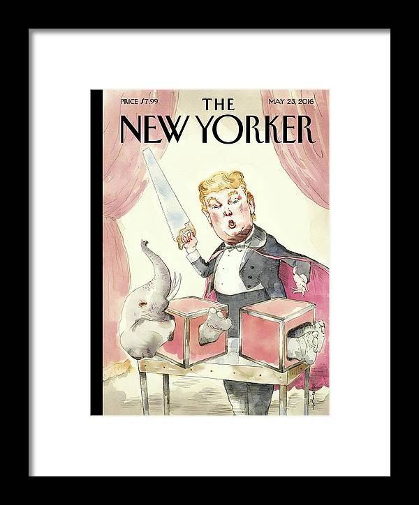 Donald Trump Framed Print featuring the painting Grand Illusion by Barry Blitt