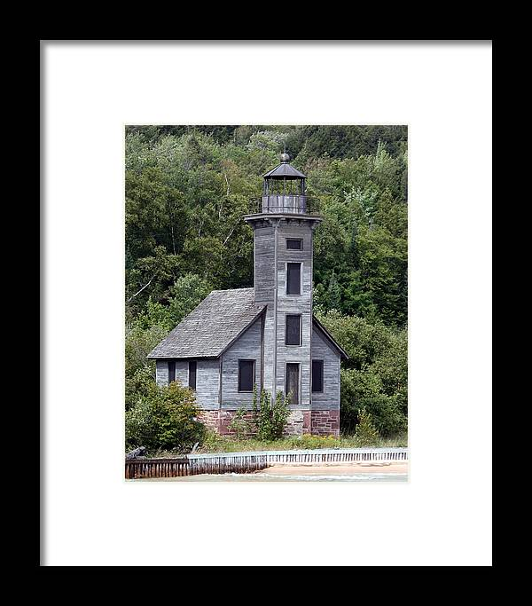 Grand Framed Print featuring the photograph Grand Island East Channel Lighthouse by George Jones