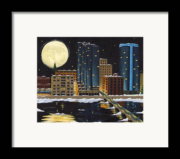 Grand Rapids Framed Print featuring the painting Grand Rapids by Christy Beckwith