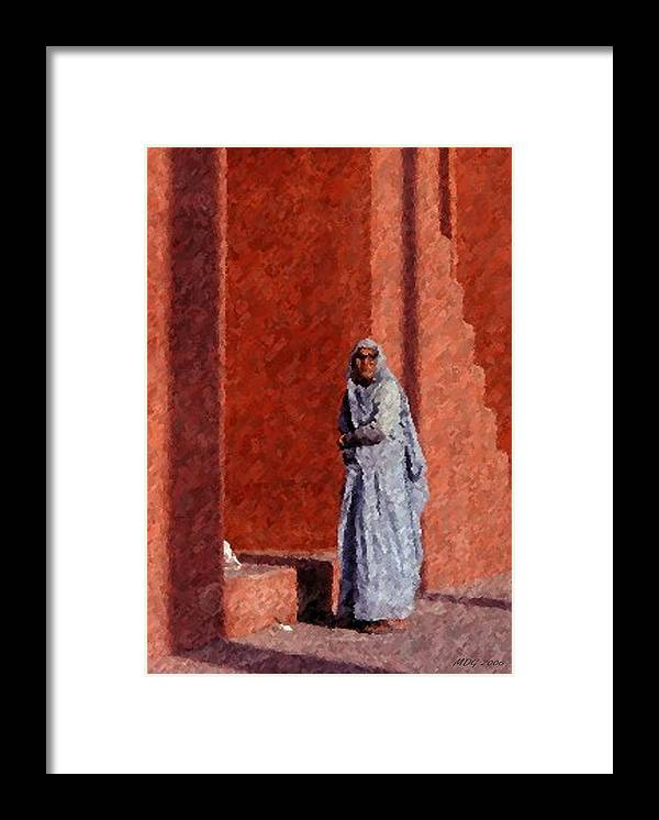 Grandmother In India Framed Print featuring the pastel Grandmother In India by Olde Time Mercantile