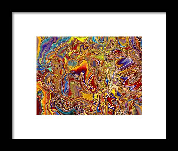 Surreal Framed Print featuring the digital art Grandmother Of Eight Makes Hole In One by Jim Williams