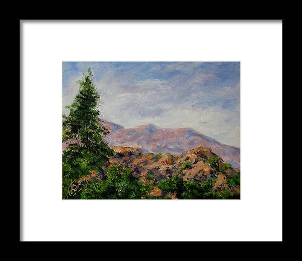 Landscape Framed Print featuring the painting Granit II by Thomas Restifo