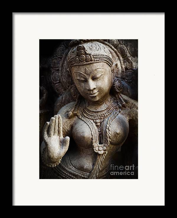 Granite Framed Print featuring the photograph Granite Indian Goddess by Tim Gainey