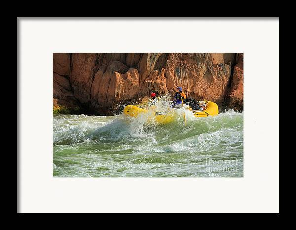 America Framed Print featuring the photograph Granite Rapids by Inge Johnsson