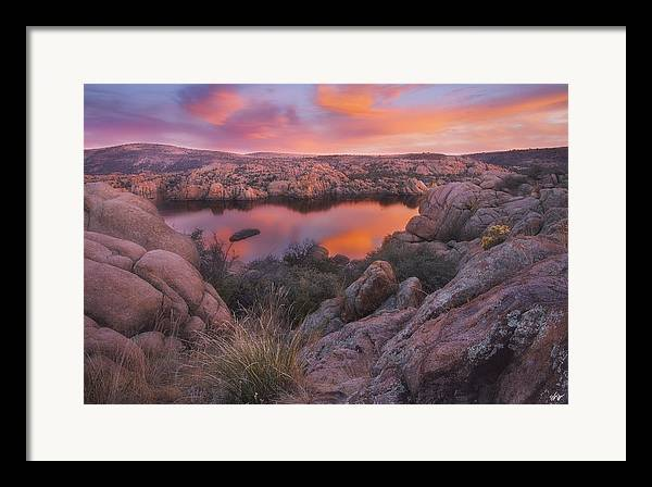Watson Lake Framed Print featuring the photograph Granite Sorbet by Peter Coskun
