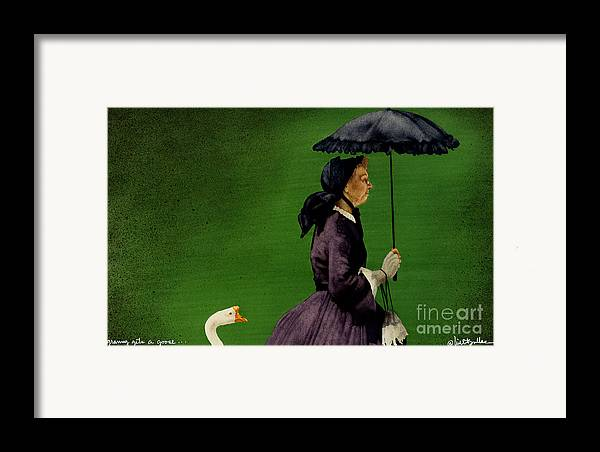 Will Bullas Framed Print featuring the painting Granny Gets A Goose... by Will Bullas