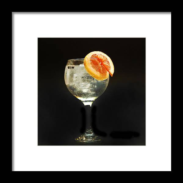 Gintonic Framed Print featuring the photograph Grapefruit Gin Tonic by Gina Dsgn