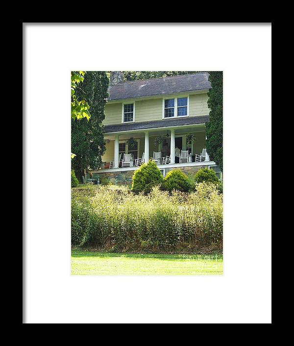 Inn Framed Print featuring the photograph Grassy Creek River House Inn by Beebe Barksdale-Bruner