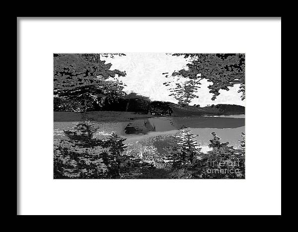 Asegia Framed Print featuring the digital art Grayscale To Commune by Steven Murphy