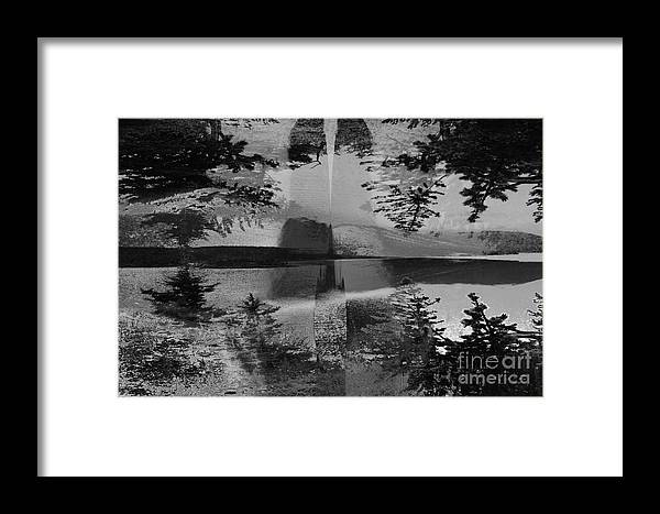 Asegia Framed Print featuring the digital art Grayscale Vision Trip by Steven Murphy