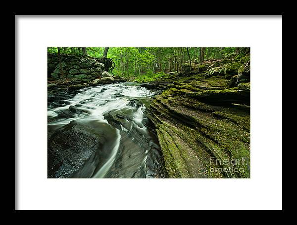 Brook Framed Print featuring the photograph Waterfall - Grayville Everlasting by JG Coleman
