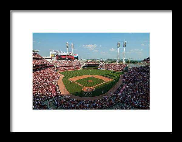 Great American Ballpark Framed Print featuring the photograph Great American Ballpark by Mark Whitt