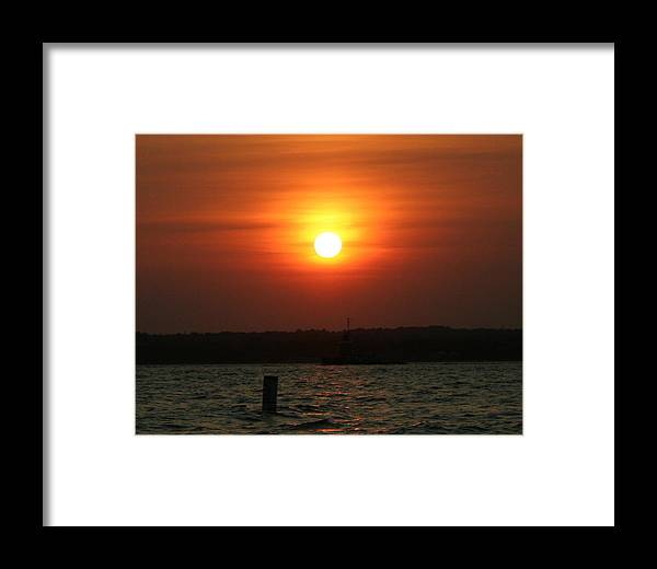 Sun Framed Print featuring the photograph Great Ball Of Fire by Stephen Melcher