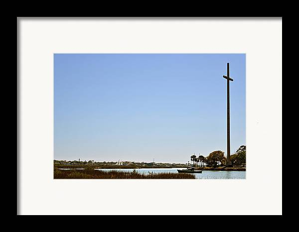 Great Framed Print featuring the photograph Great Cross - Nombre De Dios - St Augustine by Christine Till