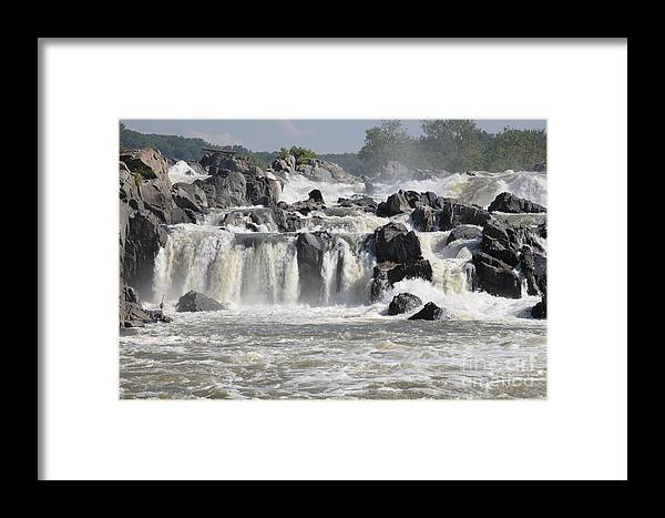 Potomac Framed Print featuring the photograph Great Falls Of The Potomac River by William Kuta