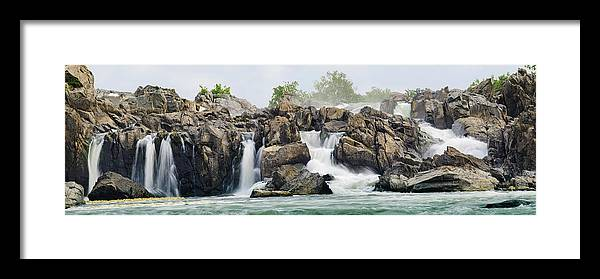 Scenics Framed Print featuring the photograph Great Falls Panoramic by Ogphoto