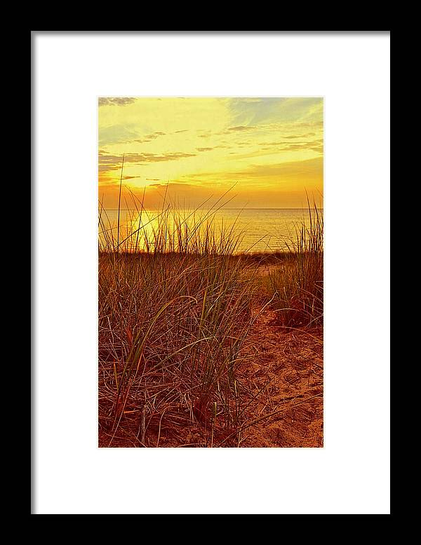 Sunsets Framed Print featuring the photograph Great Lake Great Sunset 2 by Michelle Calkins