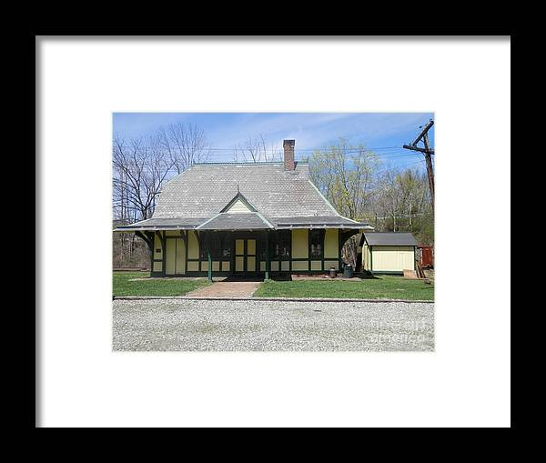 Depot Framed Print featuring the photograph Great Meadows Railroad Station In N J by Carol Wisniewski