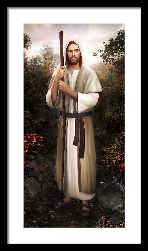 Jesus Framed Print featuring the painting Great Redeemer by Brent Borup