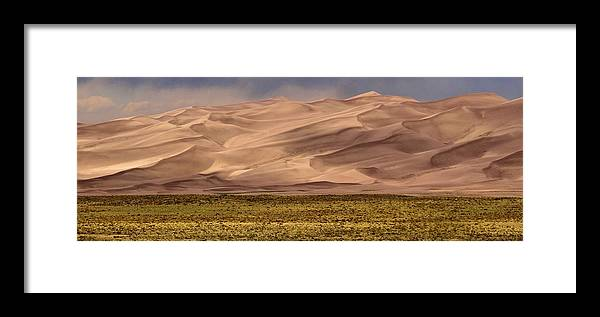 Great Sand Dunes In Colorado Framed Print featuring the photograph Great Sand Dunes In Colorado by Dan Sproul