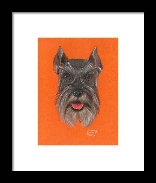 Terrier Framed Print featuring the pastel Great Scott by M Gerald Delaney