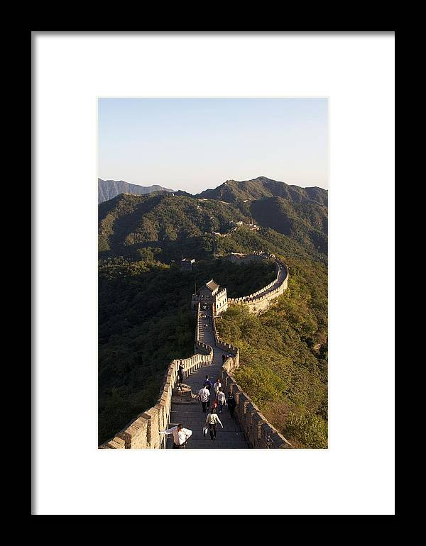The Great Wall Of China Framed Print featuring the photograph Great Wall by David Tonn