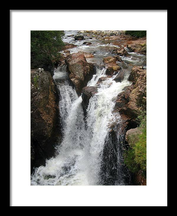 Waterfall Framed Print featuring the photograph Great Waterfall by Joyce Woodhouse