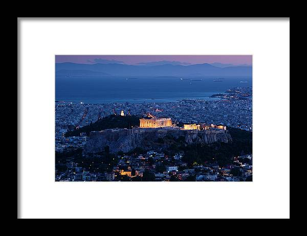 Greek Culture Framed Print featuring the photograph Greece, Athens, Lycabettus Hill by Walter Bibikow
