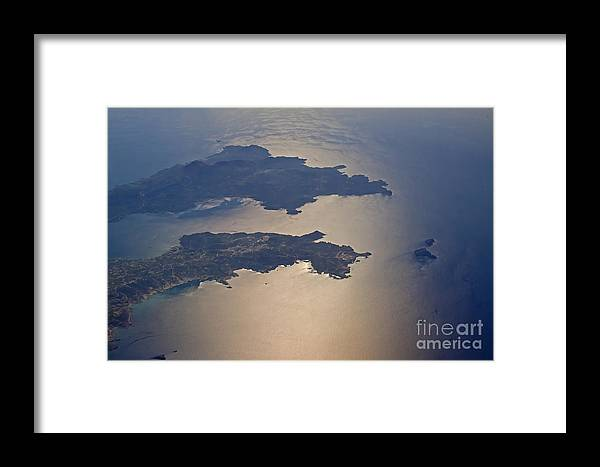 Island Framed Print featuring the photograph Greek Islands In The Aegean Sea  #7428 by J L Woody Wooden