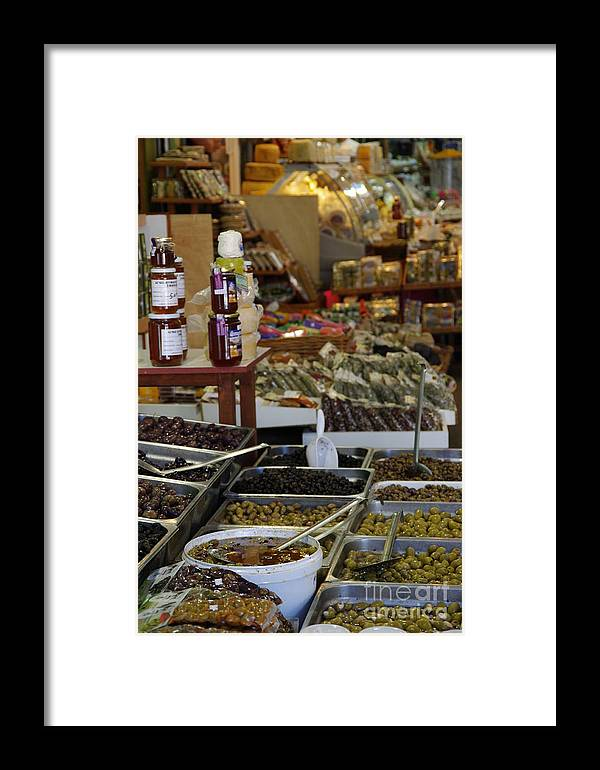Street Framed Print featuring the photograph Greek Market 3 - Olives by Giuseppe Ridino