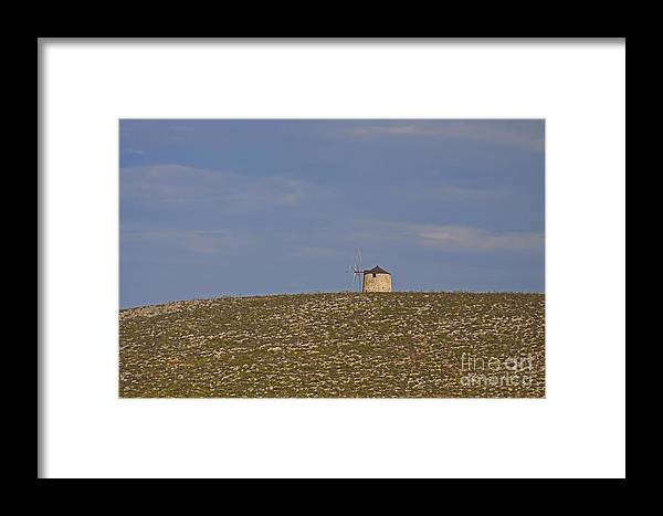 Windmill Framed Print featuring the photograph Greek Windmill  #0138 by J L Woody Wooden