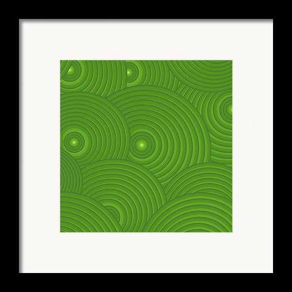 Frank Tschakert Framed Print featuring the painting Green Abstract by Frank Tschakert