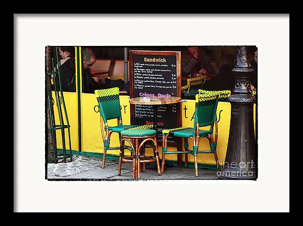 Green And Yellow In Paris Framed Print featuring the photograph Green And Yellow In Paris by John Rizzuto