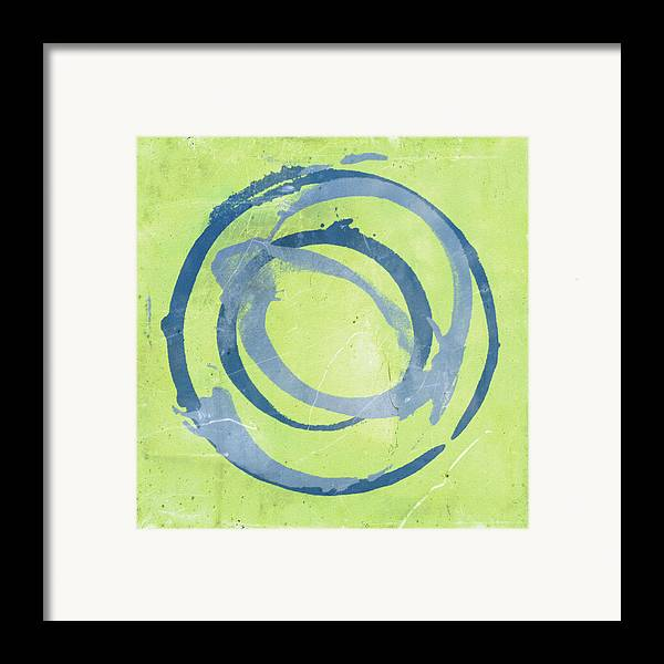 Green Framed Print featuring the painting Green Blue by Julie Niemela