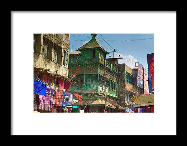 5d Mark Iii Framed Print featuring the photograph Green House At The Marketplace by John Hoey