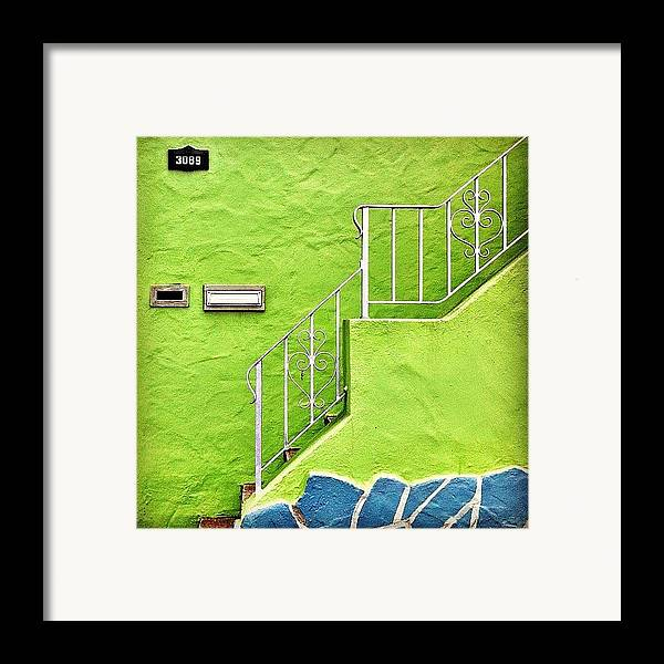 Green Framed Print featuring the photograph Green House by Julie Gebhardt