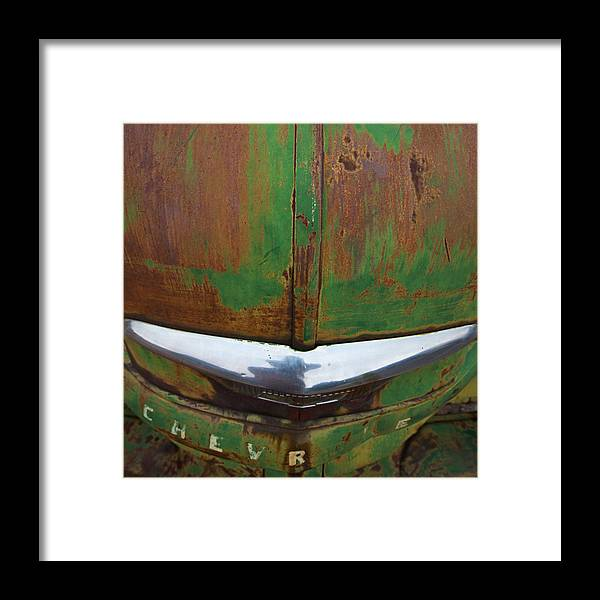 Cars Framed Print featuring the photograph Green In The Hood by Tony Santo