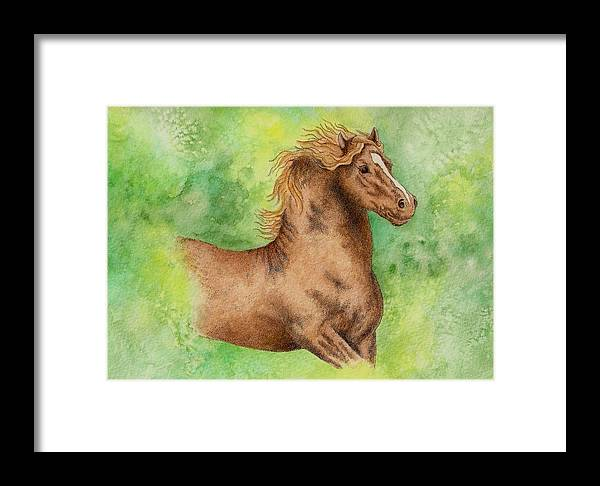 Watercolor Framed Print featuring the painting Green by Jodi Bauter
