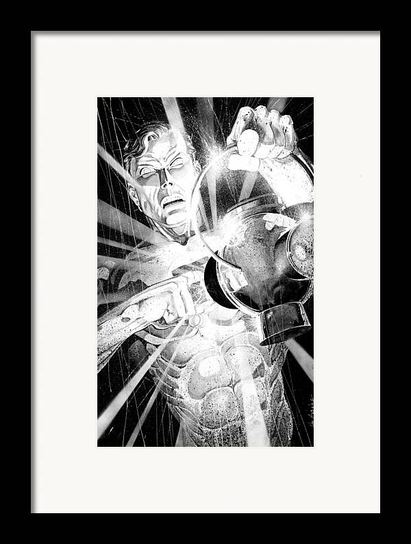 Green Lantern Framed Print featuring the painting Green Lantern by Ken Branch