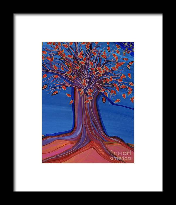 First Star Art Framed Print featuring the painting Green Leaves by First Star Art