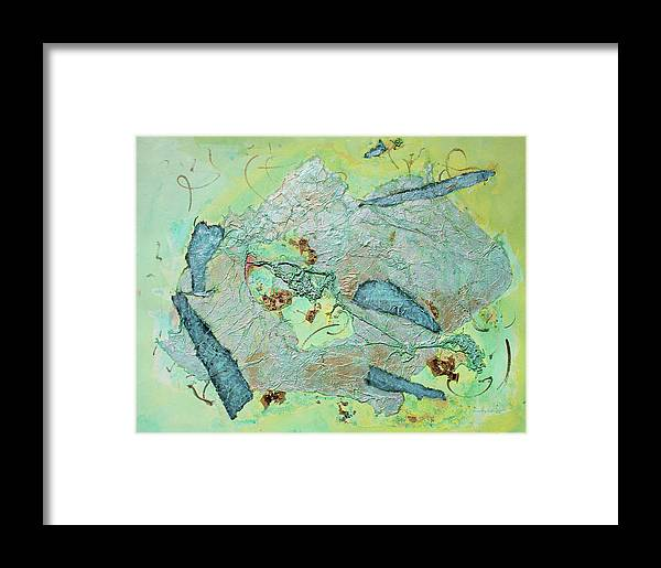Abstract Painting Framed Print featuring the painting Green Of The Earth Plane by Asha Carolyn Young