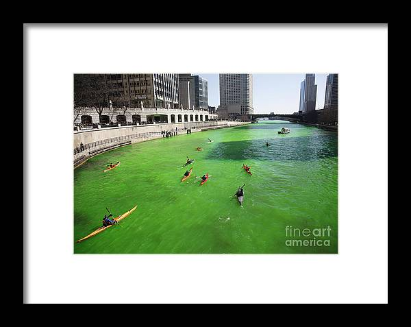 Kayak Framed Print featuring the photograph Green River Chicago by Martin Konopacki