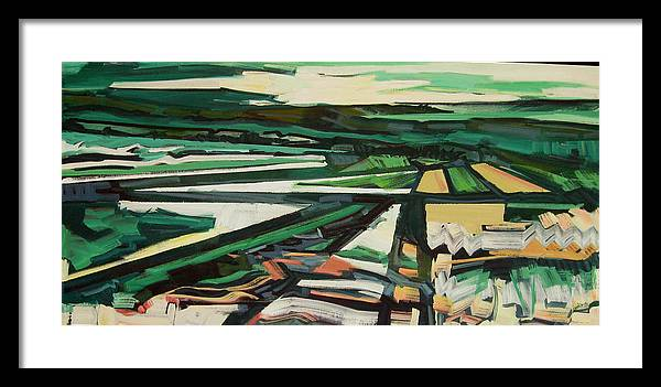 Greens Framed Print featuring the painting Green Valley Views by Catherine Jones Davies