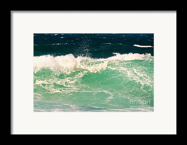 Pacific Grove Framed Print featuring the photograph Green Wave Pacific Grove Ca by Artist and Photographer Laura Wrede
