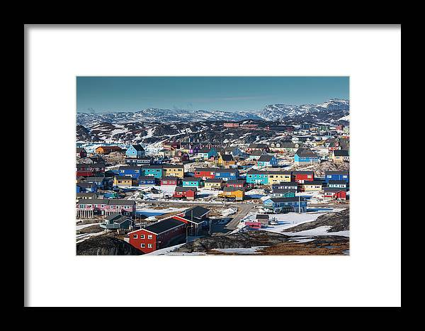 Arctic Framed Print featuring the photograph Greenland, Disko Bay, Ilulissat by Walter Bibikow