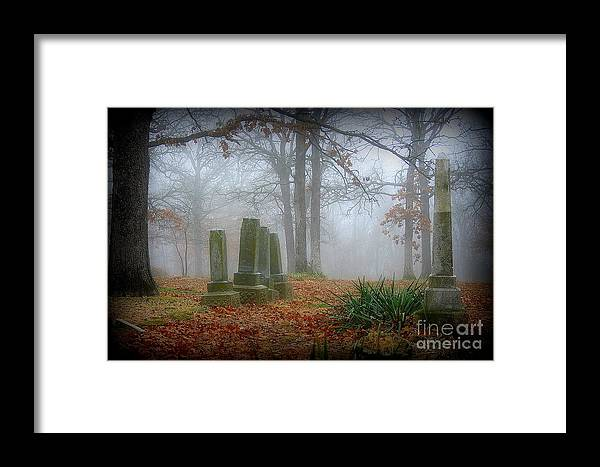 Cemetery Framed Print featuring the photograph Greenwood Cemetery 3 by Robyn Pervin