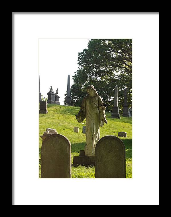 Statue Framed Print featuring the photograph Greenwood Cemetery by Philip Ralley